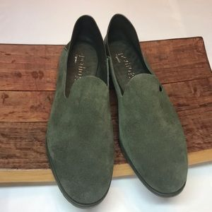 Pedro Garcia moss green loafers from Spain